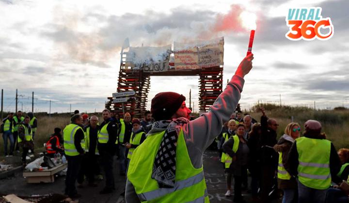 'Los chalecos amarillos'  las protestas en Francia