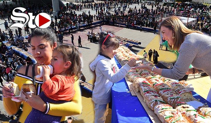 Parten Rosca de Reyes 'más grande de La Laguna'