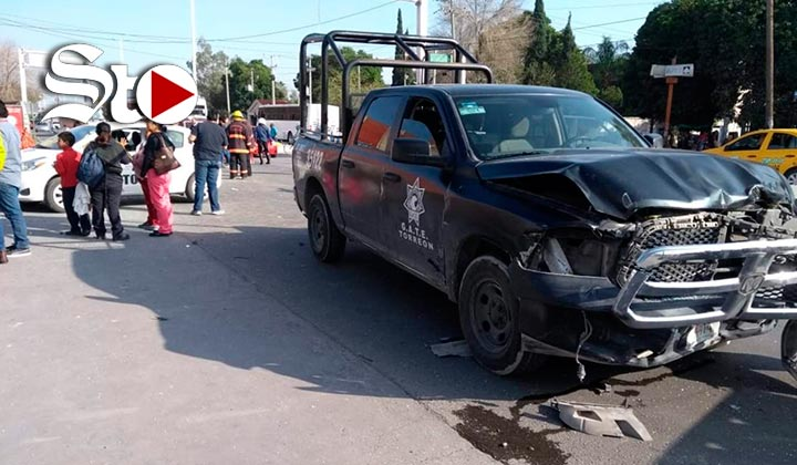 Patrulla del GATE protagoniza accidente en Torreón