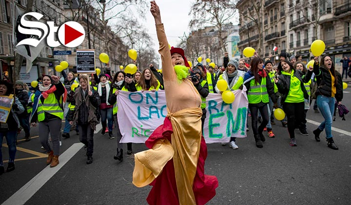 Mujeres se unen a 'chalecos amarillos' en Francia