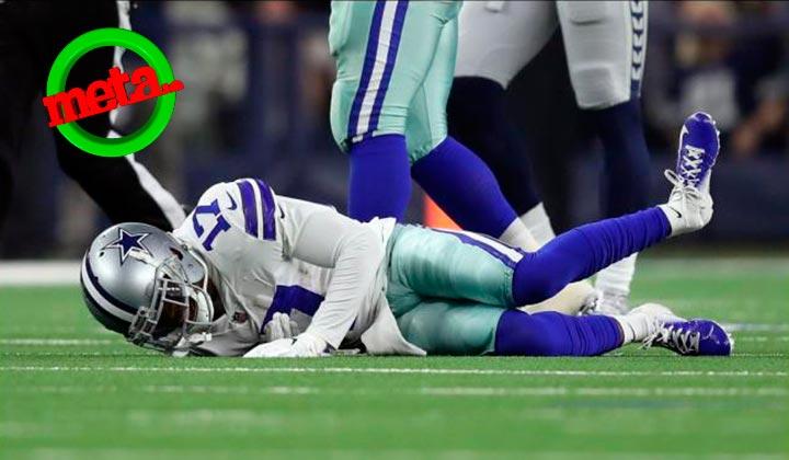 La aparatosa lesión del receptor de los Cowboys