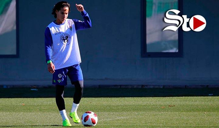 Lainez se incorpora a los entrenamientos del Betis