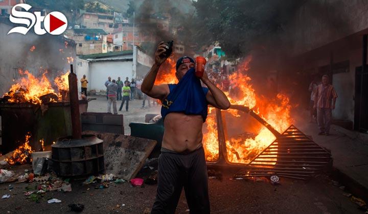 Sublevación de militares venezolanos; habitantes los apoyan