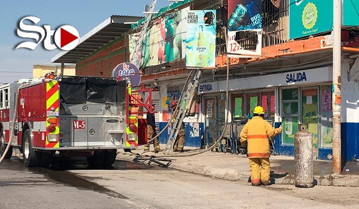 Se incendia miscelánea en Gómez Palacio