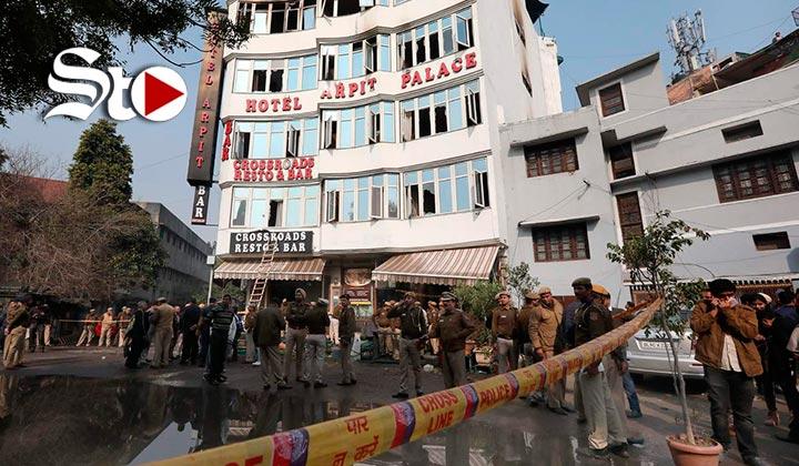Incendio en hotel de Nueva Delhi deja 17 muertos