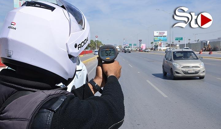 Realizan operativo vial en la Torreón-San Pedro