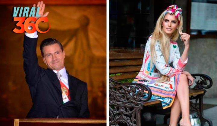 ¿Quién es la modelo que acompaña a Peña Nieto?