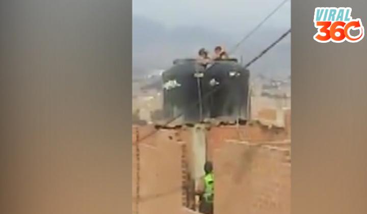 Mujer encerró a niñas en un tinaco