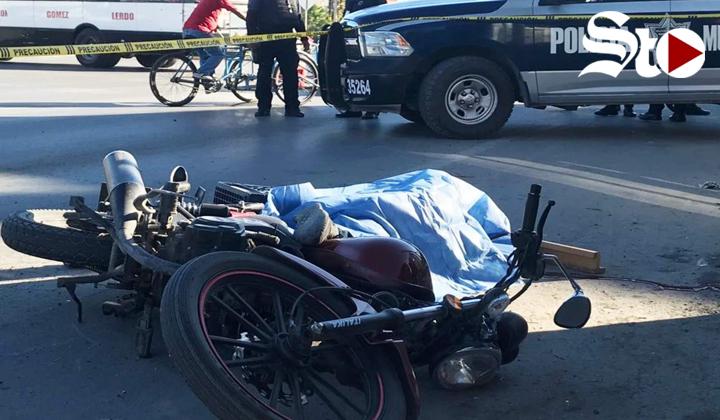 Muere motociclista en accidente vial en Torreón