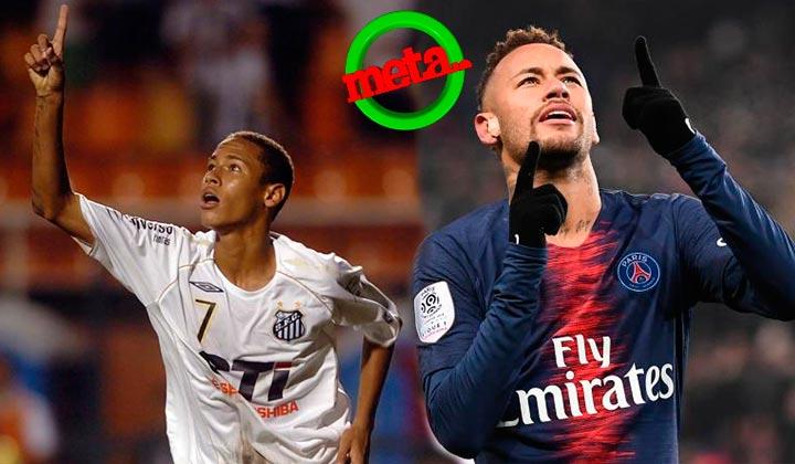 Neymar festeja 10 años de su primer gol como profesional