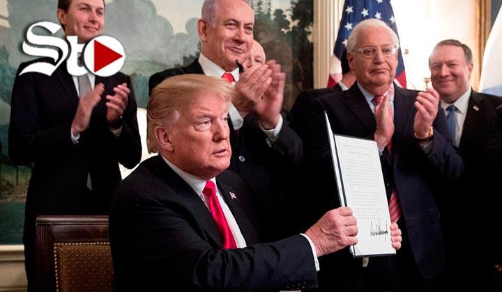 Trump reconoce soberanía de Israel en los Altos del Golán