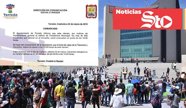 Estudiantes se manifiestan; Funcionarios 'huyen'