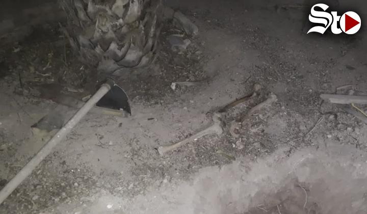 Hallan restos óseos en patio de vivienda