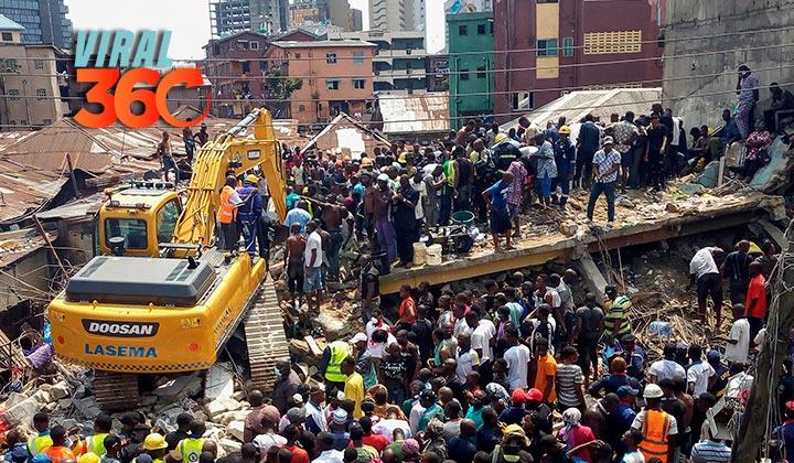 Reportan 12 muertos tras derrumbe de edificio en Nigeria