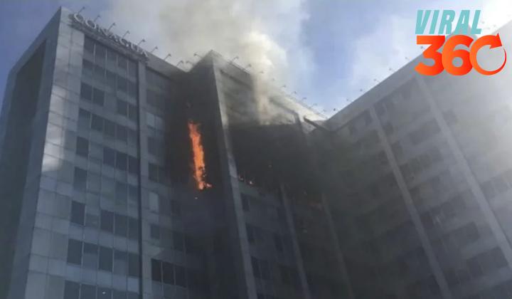 Se registra incendio en edificio de Conagua en la CDMX