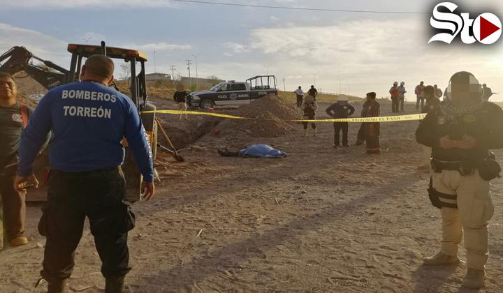 Derrumbe de tierra sepulta a trabajador en Torreón