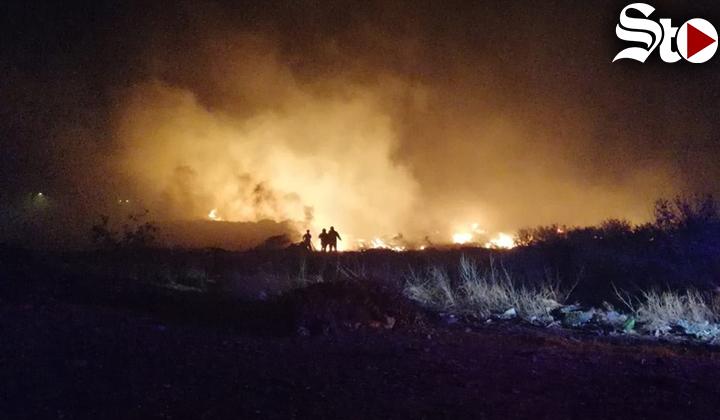 Se incendia relleno sanitario de Torreón