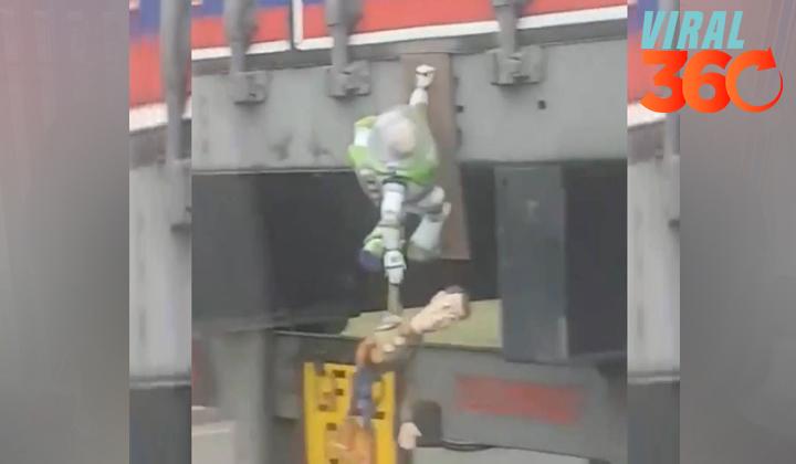 Conductor de tráiler recrea escenas de Toy Story