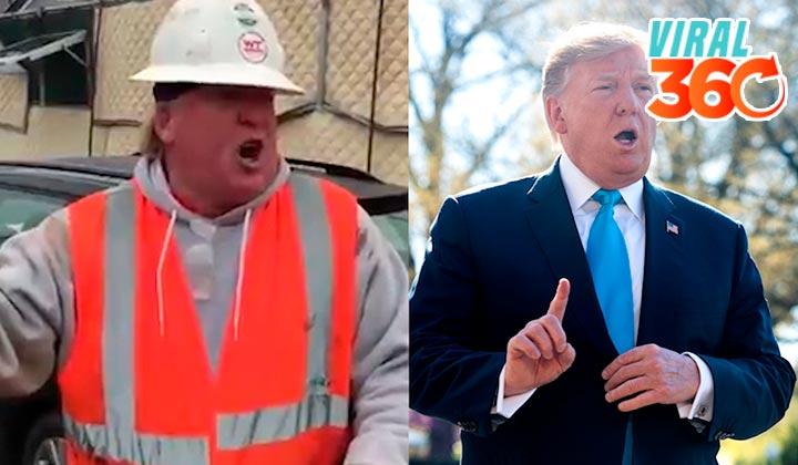 La magnífica imitación de trabajador a Donald Trump
