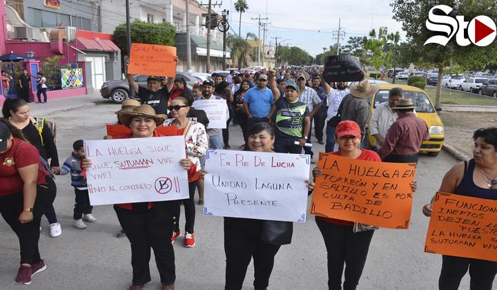 Protestan de nuevo trabajadores de la Narro Torreón