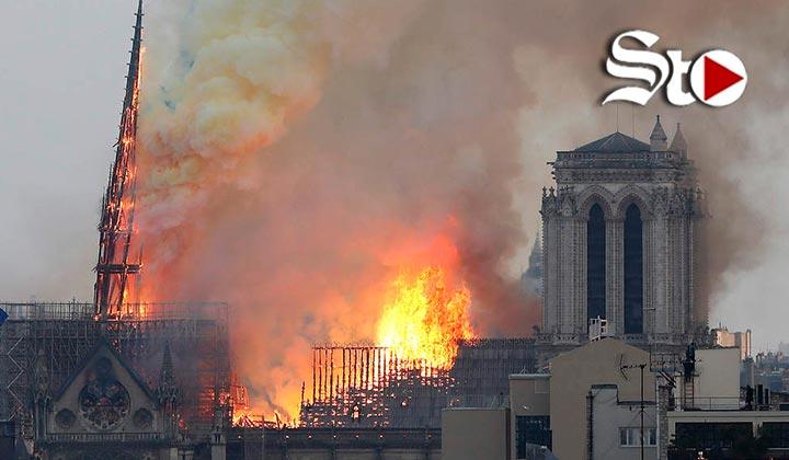 Se registra incendio en catedral de Notre Dame de París