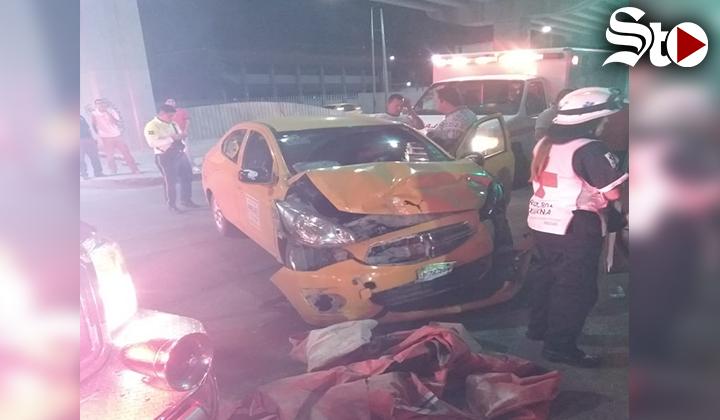 Aparatoso choque en Torreón deja tres heridos