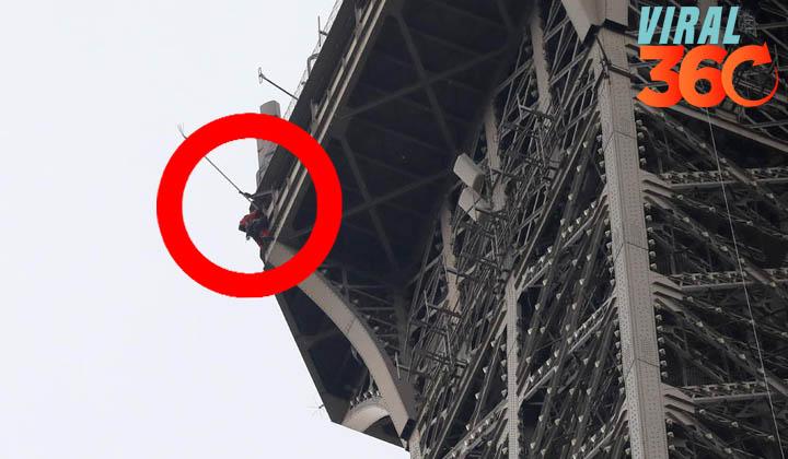 Cierran la Torre Eiffel por presencia de un hombre escalando