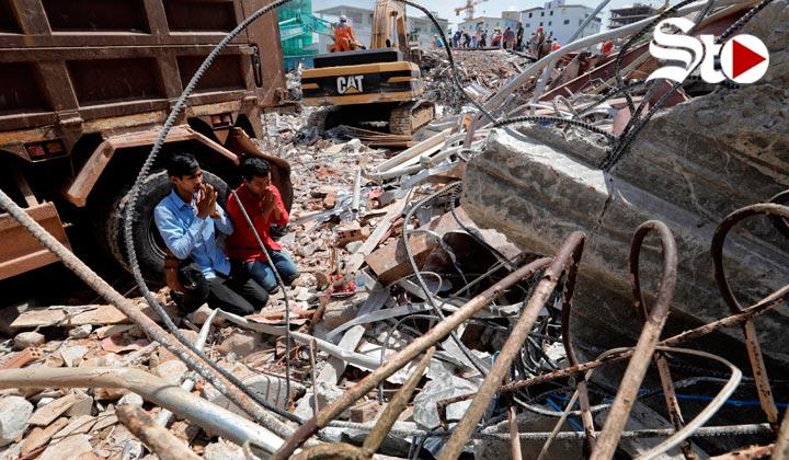 Derrumbe deja varios muertos  en Camboya