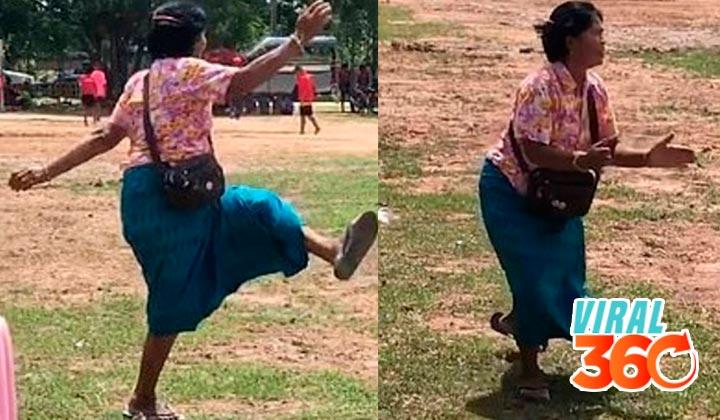 Abuela apoya enérgicamente a su nieto y se vuelve viral