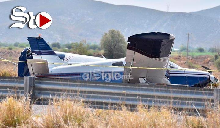 Se desploma avioneta en la Cuidad de Lerdo
