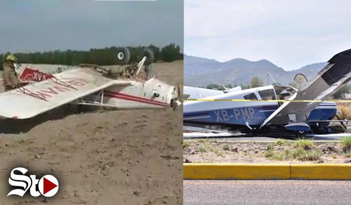 Se desploman dos avionetas en La Laguna