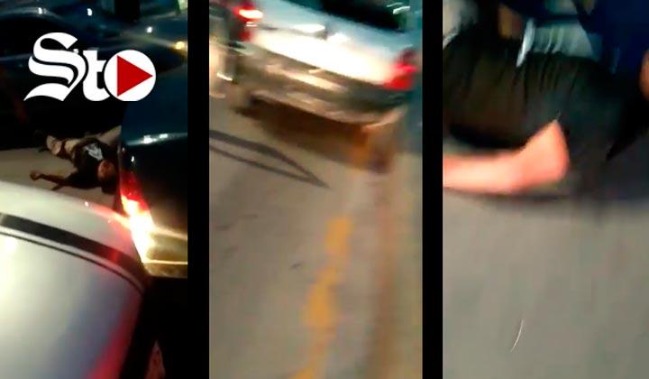 Sujetos golpean a un hombre y después lo atropellan