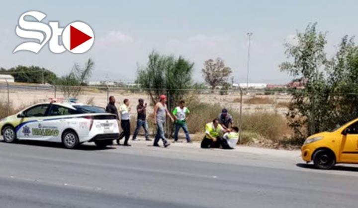 Captan en video otra pelea de tránsito y ciudadano