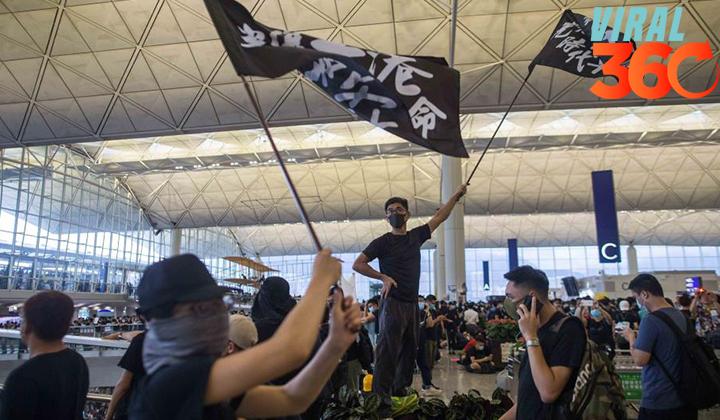 El aeropuerto de Hong Kong suspende sus vuelos por protestas