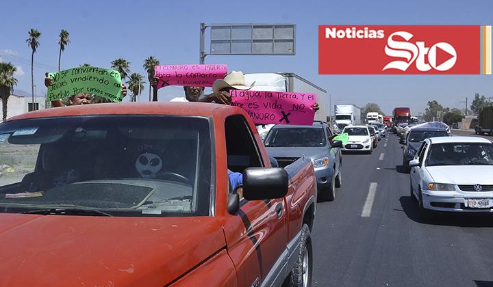 Marcha contra empresa provoca caos vial
