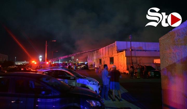 Se registra incendio en Zona Industrial Norte