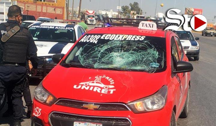 Taxi arrolla a menor de 13 años en Gómez Palacio