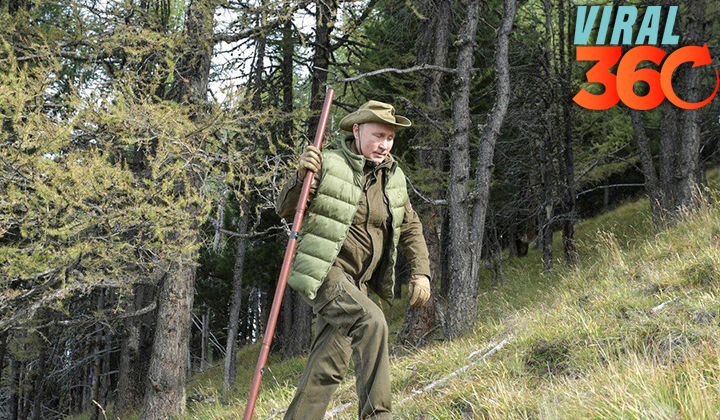 Putin celebra su 67 cumpleaños en la taiga siberiana