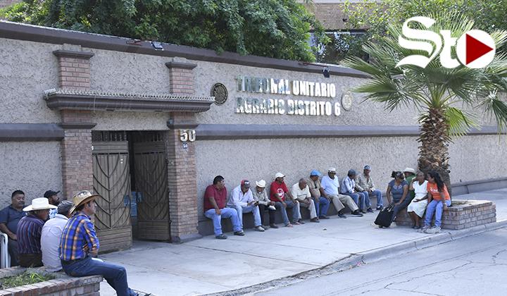 Campesinos se plantan en Tribunal Agrario