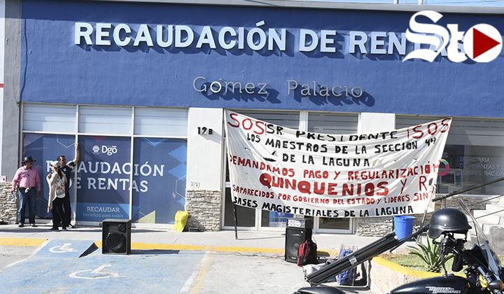 Docentes cierran oficinas de Recaudación en G.P.