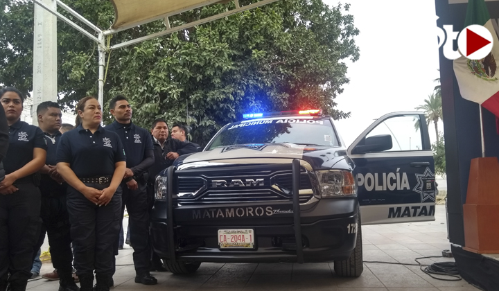 Entregan patrullas y equipo táctico en Matamoros