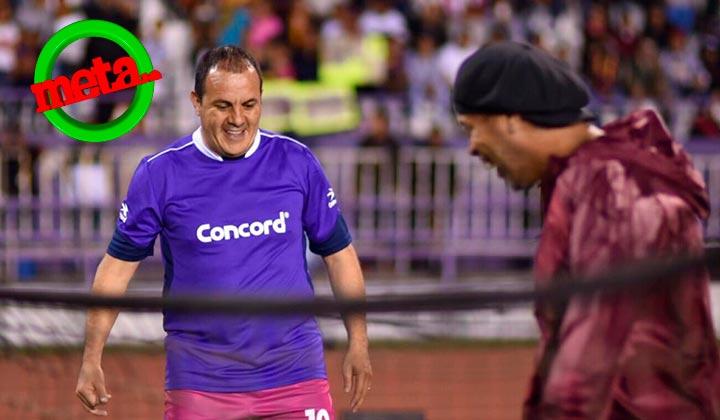 Cuauhtémoc Blanco y Ronaldinho juegan Foot-tenis en Cuernavaca
