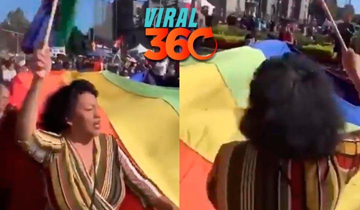 Se vuelve viral al confundir la bandera LGBT con la de Bolivia