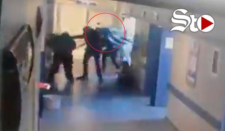 Difunden video de sicarios secuestrando a un paciente