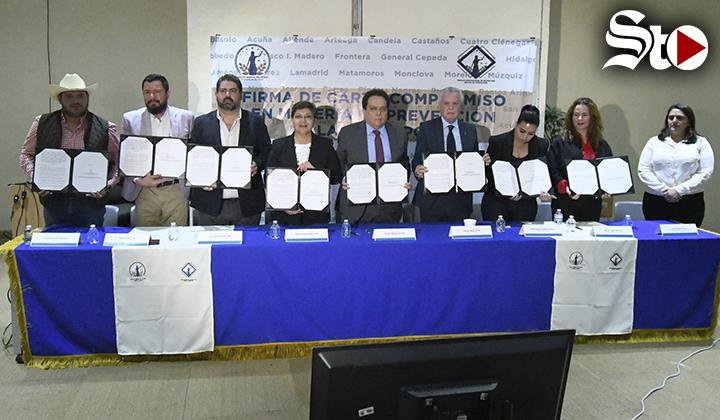 Alcaldes de La Laguna de Coahuila van contra la corrupción