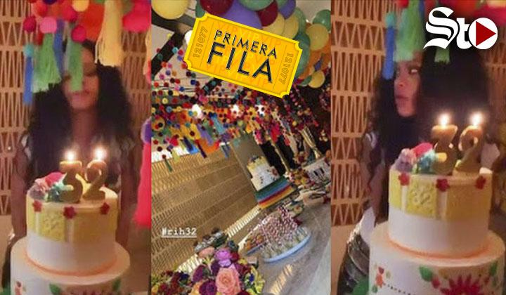 Rihanna celebra su cumplaños 32 con fiesta mexicana