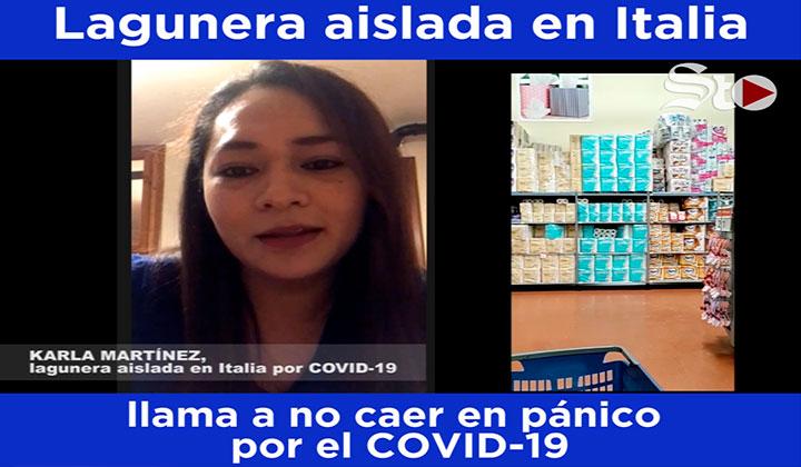Lagunera llama a no caer en el pánico por coronavirus