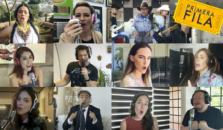 Famosos cantan Resistiré México para ayudar en contingencia