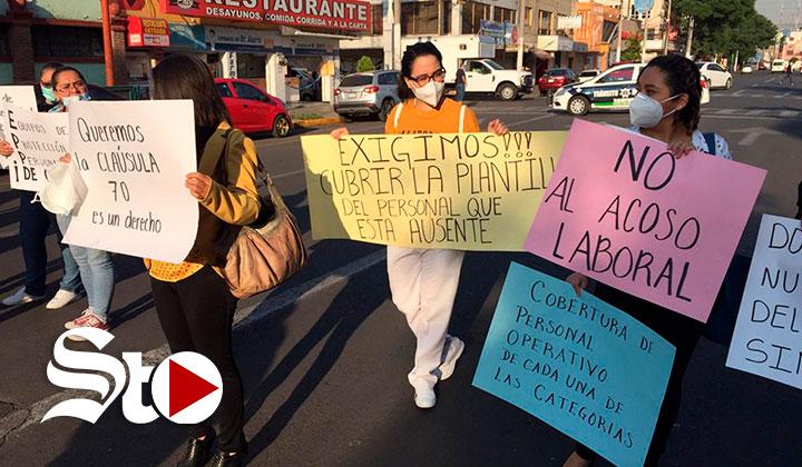 Trabajadores de la salud protestan por falta de insumos