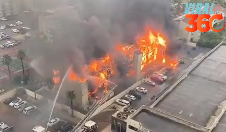 Incendio consume edificio en la Isla del Padre en Texas